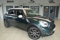 USED 2013 63 MINI COUNTRYMAN 2.0 COOPER SD 5d AUTO 141 BHP FINISHED IN STUNNING OXFORD GREEN WITH BLACK INTERIOR + FULL BMW SERVICE HISTORY + DAB RADIO + BLUETOOTH + XENON HEADLIGHTS + REAR PARKING SENSORS + AIR CONDITIONING...