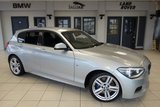 USED 2014 64 BMW 1 SERIES 2.0 118D M SPORT 5d 141 BHP FINISHED IN STUNNING GLACIER SILVER + S H + DAB RADIO  + BLUETOOTH + XENON HEADLIGHTS + AIR CONDITIONING + MULTIFUNCTION STEERING WHEEL...