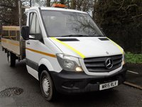USED 2015 15 MERCEDES-BENZ SPRINTER 313 2.1CDI 129 BHP LWB 13FT 10IN DROPSIDE TRUCK WITH TAILLIFT