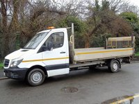 2015 MERCEDES-BENZ SPRINTER 313 2.1CDI 129 BHP LWB 13FT 10IN DROPSIDE TRUCK WITH TAILLIFT £8995.00