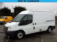 2012 FORD TRANSIT T280 2.2TDCI 138 BHP SWB SEMI HIGH ROOF PANEL VAN £2449.00