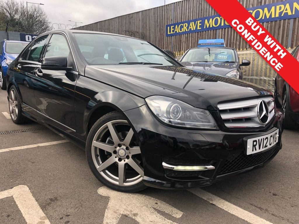 USED 2012 12 MERCEDES-BENZ C-CLASS 2.1 C220 CDI BLUEEFFICIENCY SPORT 4d AUTO 168 BHP AUTOMATIC + MOT TILL MAY 2020