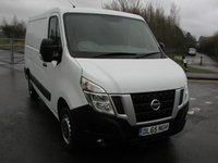 USED 2015 65 NISSAN NV400 2.3 DCI SE 125 BHP Van - NO VAT Air Con,43000 miles, Service Hisory