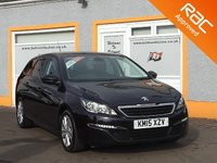 USED 2015 15 PEUGEOT 308 1.6 BLUE HDI S/S SW ACTIVE 5d 120 BHP Touchscreen Sat Nav, Bluetooth, Rear Parking Sensors, 4 Service Stamps