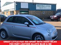 USED 2011 60 FIAT 500 1.2 S 3d 69 BHP Sold By Us Once Before !!! Great little FIAT 500 Sport with 50009 miles FSH PART LEATHER Alloys Blue & Me