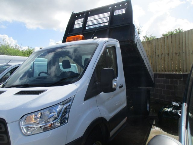 2016 16 FORD TRANSIT 2.2 125 BHP TDCI DIESEL 350 SINGLE CAB TIPPER WHITE MANUAL