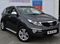 USED 2012 12 KIA SPORTAGE 2.0 CRDI KX-3 SAT NAV 5d Family SUV 4x4 Great High Spec with Side Steps Sat Nav Heated Leather Seats Rear Camera and much more FULL KIA SERVICE HISTORY