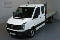 USED 2015 15 VOLKSWAGEN CRAFTER 2.0 CR35 TDI D/CAB 109 BHP LWB 7 SEATER TIPPER REAR BED LENGTH 11 FOOT 4 INCH