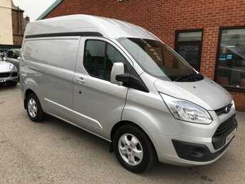 2015 FORD TRANSIT CUSTOM 2.2 290 LIMITED LR P/V 1d 124 BHP   ***NO VAT*** £13998.00