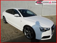 "USED 2014 64 AUDI A5 2.0 TDI SPORTBACK QUATTRO S LINE 5dr AUTO 174 BHP **SAT NAV, FULL HEATED LEATHER, 20""ALLOYS**"