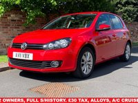 USED 2011 11 VOLKSWAGEN GOLF 1.6 MATCH TDI 5d 103 BHP 2 OWNERS, FULL SERVICE HISTORY, 1YR MOT, £30 ROAD TAX, EXCELLENT CONDITION, ALLOYS, AIR CON, CRUISE, BLUETOOTH,  FOGS, RADIO CD, E/WINDOWS, R/LOCKING, FREE WARRANTY, FINANCE AVAILABLE, HPI CLEAR, PART EXCHANGE WELCOME,