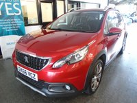 USED 2016 66 PEUGEOT 2008 1.6 BLUE HDI ALLURE 5d 100 BHP One lady owner, full Peugeot service history, first Mot due in October when warranty expires. Finished in Ultimate Red with Black half leather seats.