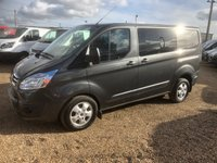 USED 2016 16 FORD TRANSIT CUSTOM 2.2 290 LIMITED LR DCB 1d 124 BHP CREW CAB LIMITED, AIR CON, ONE OWNER FROM NEW.