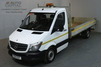 USED 2014 14 MERCEDES-BENZ SPRINTER 2.1 313 CDI LWB 129 BHP S/CAB DROPSIDE LORRY REAR BED LENGTH 14 FOOT