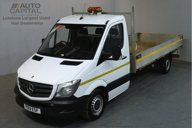 2014 14 MERCEDES-BENZ SPRINTER 2.1 313 CDI LWB 129 BHP S/CAB DROPSIDE LORRY REAR BED LENGTH 14 FOOT