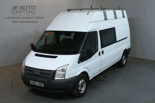 2013 63 FORD TRANSIT 2.2 350 124 BHP LWB H/ROOF 6 SEATER COMBI CREW VAN ONE OWNER FULL S/H SPARE KEY