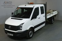 USED 2015 15 VOLKSWAGEN CRAFTER 2.0 CR35 TDI DCB LWB 109 BHP 7 SEATER TIPPER REAR BED LENGTH 11 FOOT 4 INCH