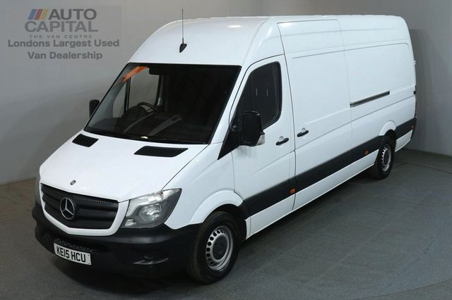 2015 15 MERCEDES-BENZ SPRINTER 2.1 313 CDI LWB 129 BHP H/ROOF PANEL VAN ONE OWNER FULL S/H SPARE KEY