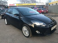 2013 FORD FOCUS 1.6 ZETEC 5 DOOR 104 BHP IN BLACK WITH ONLY 56000 MILES IN GREAT CONDITION. £6499.00