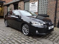 2013 LEXUS CT 1.8 200H LUXURY 5d AUTO 136 BHP £10995.00