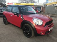 2013 MINI COUNTRYMAN 2.0 COOPER SD 5 DOOR AUTO 141 BHP IN RED WITH 50200 MILES IN IMMACULATE CONDITION. £9999.00