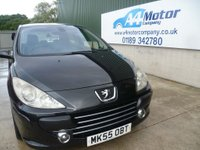 USED 2005 55 PEUGEOT 307 2.0 Feline 3dr BLACK , 3 DOOR , LONG MOT,