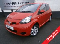 USED 2011 61 TOYOTA AYGO 1.0 VVT-I GO MM 5dr AUTO  ECONOMICAL LOW MILEAGE SMALL 5dr AUTO With SAT-NAV