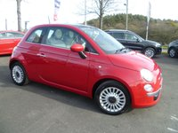 USED 2012 62 FIAT 500 1.2 LOUNGE 3d 69 BHP FULL SERVICE HISTORY, SUNROOF, AIR CON, ALLOYS, £30 ROAD FUND