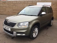 USED 2015 15 SKODA YETI 1.6 OUTDOOR SE GREENLINE II TDI CR 5d 1 OWNER