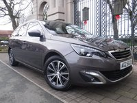 USED 2016 65 PEUGEOT 308 SW 1.6 BLUE HDI S/S SW ALLURE 5d 120 BHP ****FINANCE ARRANGED****PART EXCHANGE WELCOME***1OWNER FROM NEW* FULL SH* SAT/NAV* £0 TAX* BLUETOOTH* CRUISE*DAB RADIO