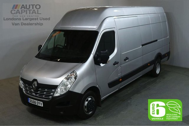 2018 68 RENAULT MASTER 2.3 LHL45TW BUSINESS DCI 130 BHP XLWB EXTRA H/ROOF TWIN WHEELS