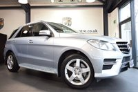 "USED 2014 MERCEDES-BENZ M CLASS 3.0 ML350 BLUETEC AMG SPORT 5DR 258 BHP full service history FINISHED IN STUNNING DIAMOND METALLIC SILVER WITH HALF LEATHER INTERIOR + FULL SERVICE HISTORY + SATELLITE NAVIGATION + BLUETOOTH + AMG STYLING PACKAGE-FRONT SPOILER, SIDE SKIRT + CRUISE CONTROL + ELECTRIC ADJUSTABLE SEATS + ACTIVE PARK ASSIST + 19"" ALLOY WHEELS"