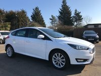 2015 FORD FOCUS 1.5 TDCi TITANIUM 5d WITH FULL FORD HISTORY AND ONE OWNER FROM NEW £8500.00