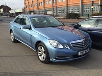 USED 2011 11 MERCEDES-BENZ E CLASS 2.1 E200 CDI BLUEEFFICIENCY SE 4d AUTO 136 BHP The best is now available, stunning example.