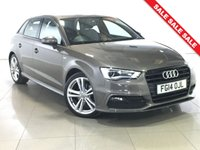 USED 2014 14 AUDI A3 2.0 TDI S LINE 5d AUTO 148 BHP PART LEATHER | BLUETOOTH | DAB