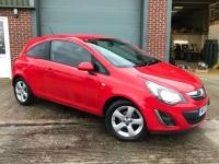 USED 2013 13 VAUXHALL CORSA SXi Ac 3dr 1.4 HPI CLEAR, WARRANTY INCLUDED