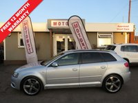 USED 2012 62 AUDI A3 2.0 SPORTBACK TDI S LINE SPECIAL EDITION 5DR  DIESEL 140 BHP +++£30 ROAD TAX+++