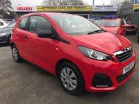 USED 2015 65 PEUGEOT 108 1.0 ACCESS 3d 68 BHP IN RED WITH ONLY 20000 MILES IN IMMACULATE CONDITION. Approved Cars are pleased to offer this Peugeot 108 1.0 access 3 door 68bhp in bright red with only 20300 miles in immaculate condition inside and out with a full service history and only 1 owner from new,an ideal first car or learner car with super low mileage one not to be missed