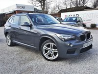 USED 2012 62 BMW X1 2.0 XDRIVE18D M SPORT 5d 141 BHP FULL GLASS ROOF + RED LEATHER
