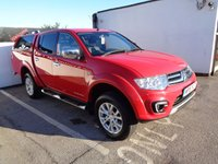 USED 2015 15 MITSUBISHI L200 2.5 DI-D 4X4 Barbarian LB DCB 1d 175 BHP FREE DELIVERY ANYWHERE IN UK £332 A MONTH NO VAT FULL LEATHER ALLOYS SATELLITE NAVIGATION SIDE STEPS CRUISE CONTROL SUPPLIED WITH FULL MOT AND SERVICE