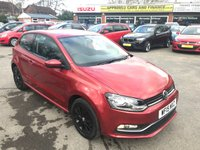 USED 2015 15 VOLKSWAGEN POLO 1.2 SE TSI 3 DOOR 89 BHP IN METALLIC ED WITH BLACK ALLOYS IN STUNNING CONDITION INSIDE AND OUT WITH ONLY 35700 MILES.  APPROVED CARS ARE PLEASED TO OFFER THIS VOLKSWAGEN POLO 1.2 SE TSI 3 DOOR 89 BHP IN METALLIC RED WITH BLACK ALLOYS IN GREAT CONDITION WITH 35000 MILES AND A FULL SERVICE HISTORY SERVICED AT 9K,20K,21K AND 27K WITH ALL THE STAMPS IN THE SERVICE BOOK A GREAT POLO IN GREAT CONDITION.