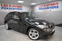 USED 2015 15 BMW X1 2.0 SDRIVE18D M SPORT 5d 141 BHP 18in alloys, full leather, DAB radio, bluetooth, 1 owner