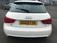 USED 2012 62 AUDI A1 1.6 TDI SE 3 DOOR 103 BHP IN WHITE WITH ONLY 44000 MILES IN GREAT CONDITION. APPROVED CARS ARE PLEASED TO OFFER THIS AUDI A1 1.6 TDI SE 3 DOOR 103 BHP IN WHITE WITH ONLY 44000 MILES IN GREAT CONDITION WITH A FULL SERVICE HISTORY WITH 4 STAMPS IN THE SERVICE BOOK A LOVELY A1 DIESEL IN THE BEST COLOUR WHITE.