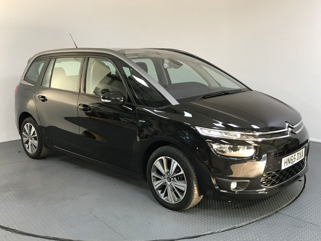 USED 2015 65 CITROEN C4 GRAND PICASSO 1.6 BLUEHDI EXCLUSIVE 5d AUTO 118 BHP FULL HISTORY - 7 SEATS - ONE OWNER - SAT NAV - SENSORS - BLUETOOTH - AIR CON - AUX / USB