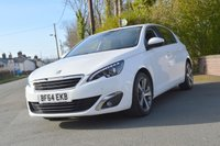 USED 2014 64 PEUGEOT 308 1.6 E-HDI ALLURE 5d 114 BHP