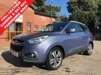 USED 2014 14 HYUNDAI IX35 1.7 PREMIUM PANORAMA CRDI 5d 114 BHP IX35 Premium Panorama, with an array of equipment including SAT NAV, Reversing Camera, Full Length Glass Opening Panoramic Roof, Full Leather, Heated Seats, Parking Sensors, Privacy Glass, Leather Multi Functional Steering Wheel, Climate Control, Cruise Control, Bluetooth, Radio, CD, USB/AUX, Metallic Paint, Keyless Entry, Folding Wing Mirrors, Alloy Wheels, Full Size Spare Wheel and 2 Keys. Just 2 previous owners Full Service History, MOT until 3.9.201 and the balance of Hyundai Warranty.