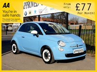 2013 FIAT 500 0.9 COLOUR THERAPY 3d 85 BHP £4500.00
