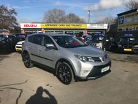 USED 2014 14 TOYOTA RAV4 2.0 D-4D ICON 5 DOOR 124 BHP IN SILVER WITH ONLY 55700 MILES(NEW SHAPE) APPROVED CARS ARE PLEASED TO OFFER THIS  TOYOTA RAV4 2.0 D-4D ICON 5 DOOR 124 BHP IN SILVER WITH ONLY 55700 MILES IN GREAT CONDITION INSIDE AND OUT WITH A GOOD SPEC INCLUDING REVERSE CAMERA,ELECTRIC TAILGATE,DAB RADIO,BLUETOOTH AND MUCH MORE WITH A FULL TOYOTA MAIN DEALER SERVICE HISTORY AS SEEN IN PICTURES A GREAT NEW SHAPE RAV4 FOUR WHEEL DRIVE AT A VERY SENSIBLE PRICE