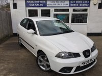 USED 2008 08 SEAT IBIZA 1.4 SPORTRIDER 3d 99 BHP 65K 2LOCAL OWNERS SPORTRIDER  16'ALLOYS 5SPD AIR/CON EXC CONDITION