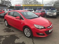 USED 2014 14 VAUXHALL ASTRA 1.6 EXCITE 5 DOOR 113 BHP IN BRIGHT RED WITH 55200 MILES IN GREAT CONDITION. APPROVED CARS ARE PLEASED TO OFFER THIS VAUXHALL ASTRA 1.6 EXCITE 5 DOOR 113 BHP IN BRIGHT RED WITH 55200 MILES IN GREAT CONDITION INSIDE AND OUT WITH A GOOD SPEC AND A FULL VAUXHALL MAIN DEALER SERVICE HISTORY WITH A FULLY STAMPED SERVICE BOOK A GREAT FAMILY CAR AT VERY SENSIBLE MONEY.